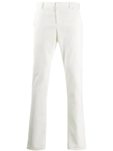 Dondup Chino Mit Geradem Bein In White