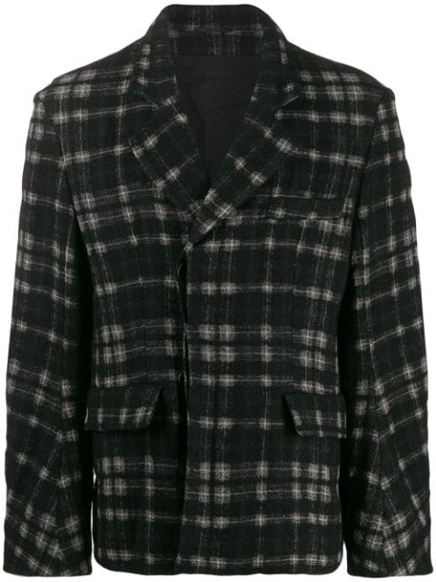 Ann Demeulemeester Check Pattern Jacket In Black