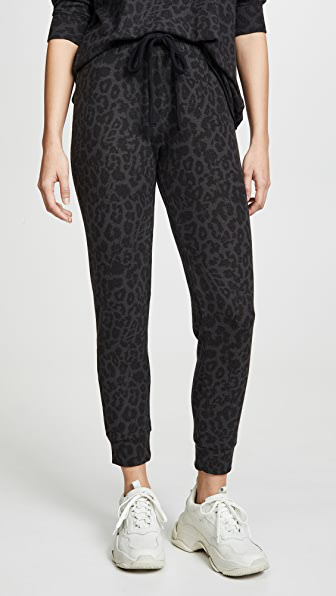 Lna Leopard Print Pull-on Pants In Brushed Leopard