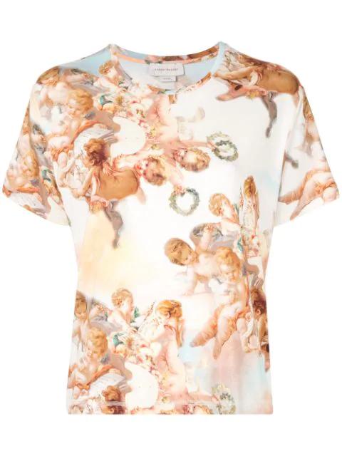 Karen Walker Cumulus Printed T-shirt In Multicolour