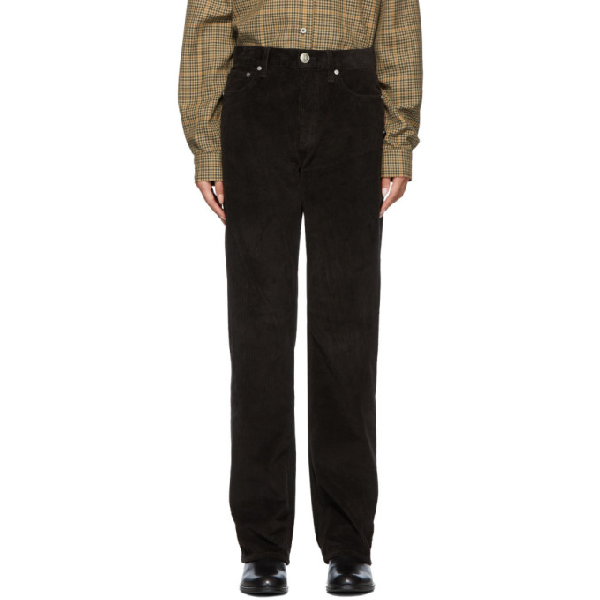 Rag & Bone Rag And Bone Black Corduroy Ruth Super High-rise Trousers In 1 Black