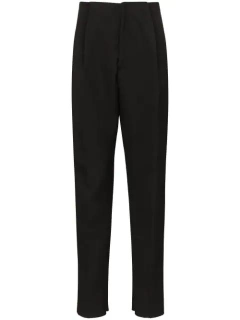 Bottega Veneta Ssense Exclusive Black Light Felt Wool Trousers In 1000black