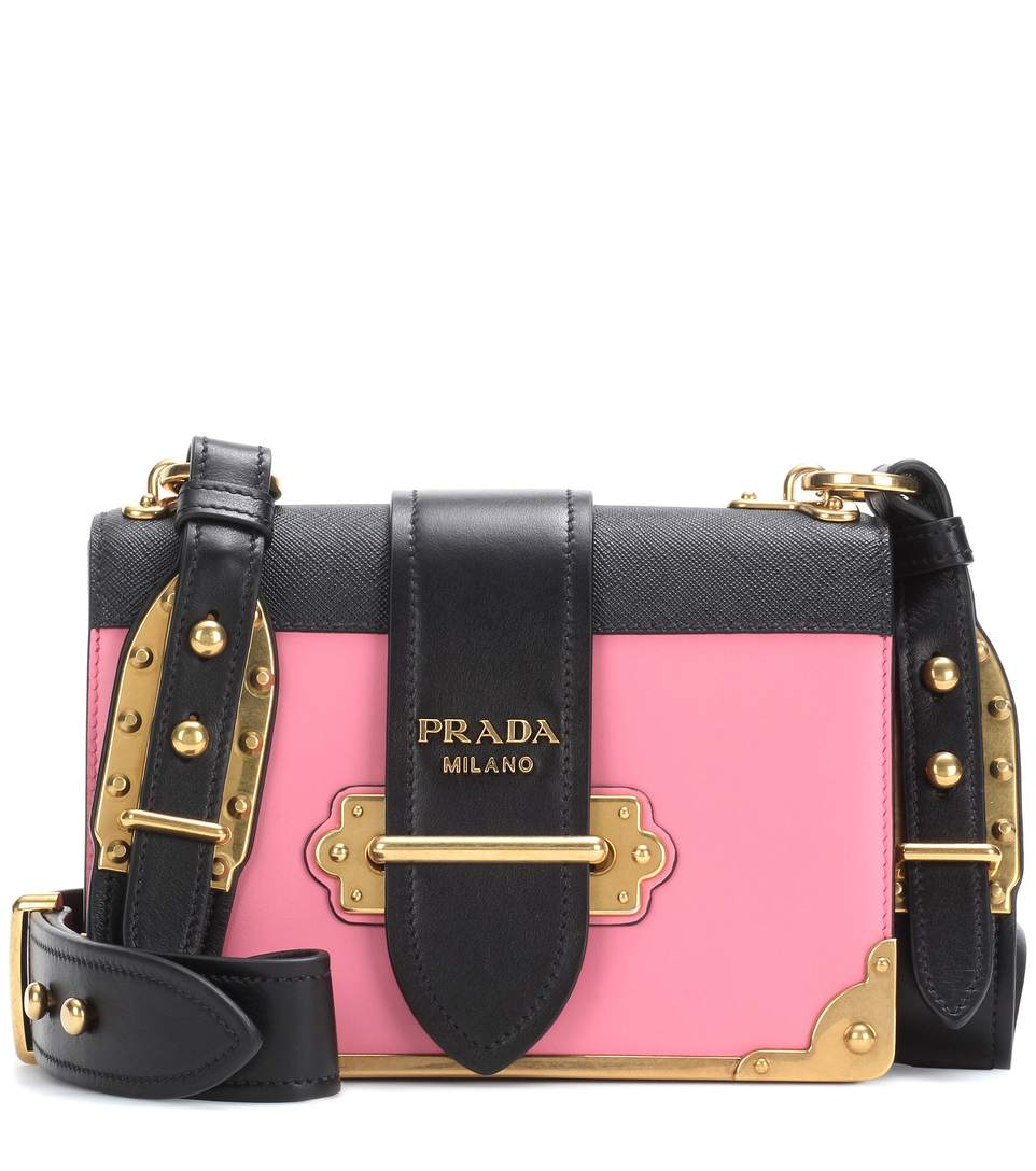 c4736ec827f3 Prada Cahier Leather Shoulder Bag In Black