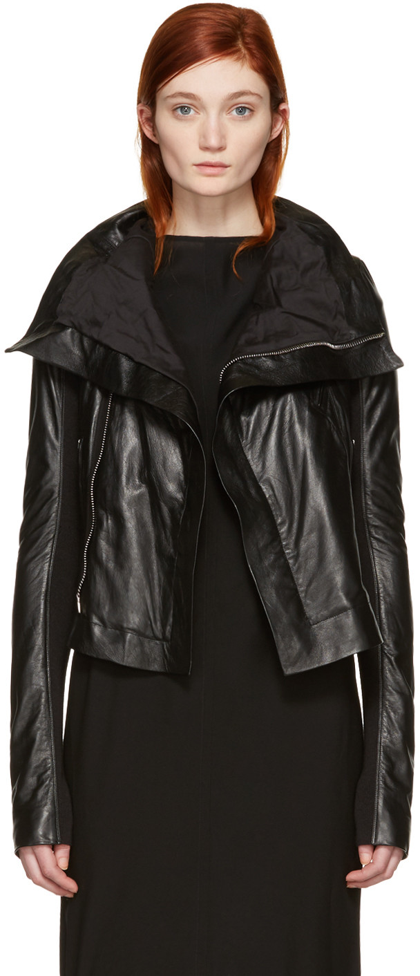 4a01fc63a Classic Leather Biker Jacket in Black