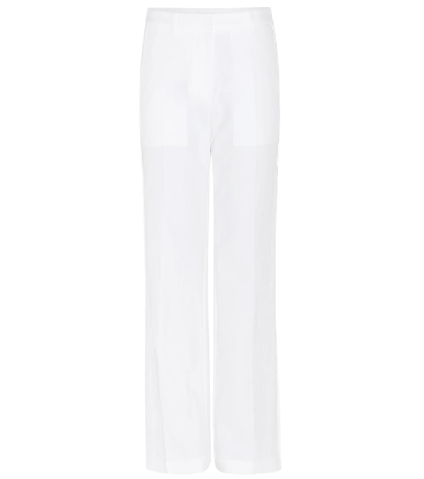 Calvin Klein Collection Leff Cotton Trousers In White