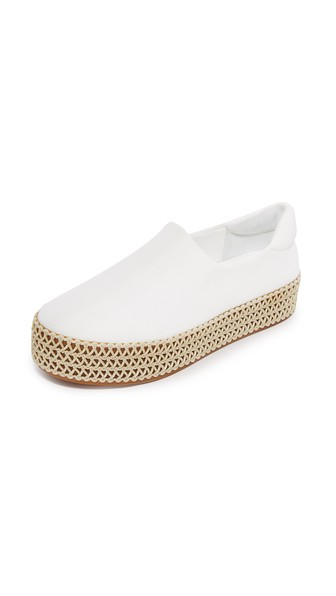 Opening Ceremony Cici Woven Platform Slip-on Sneakers In White