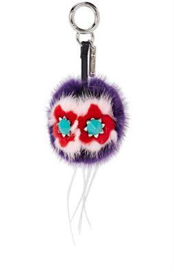 Fendi Flowery Mini Bag Bugs Charm For Handbag, Purple/Pink/Red In Multi