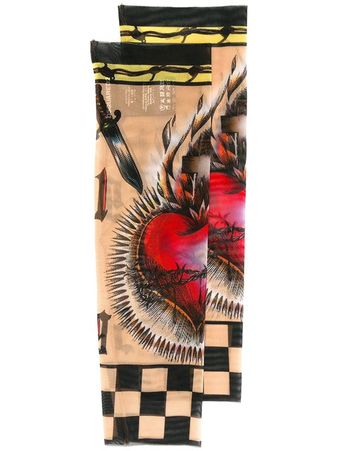 Dsquared2 Heart Tattoo Motif Sleeves In Multicolour