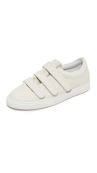 Iro Woman Scratchy Textured-leather Sneakers Cream In White