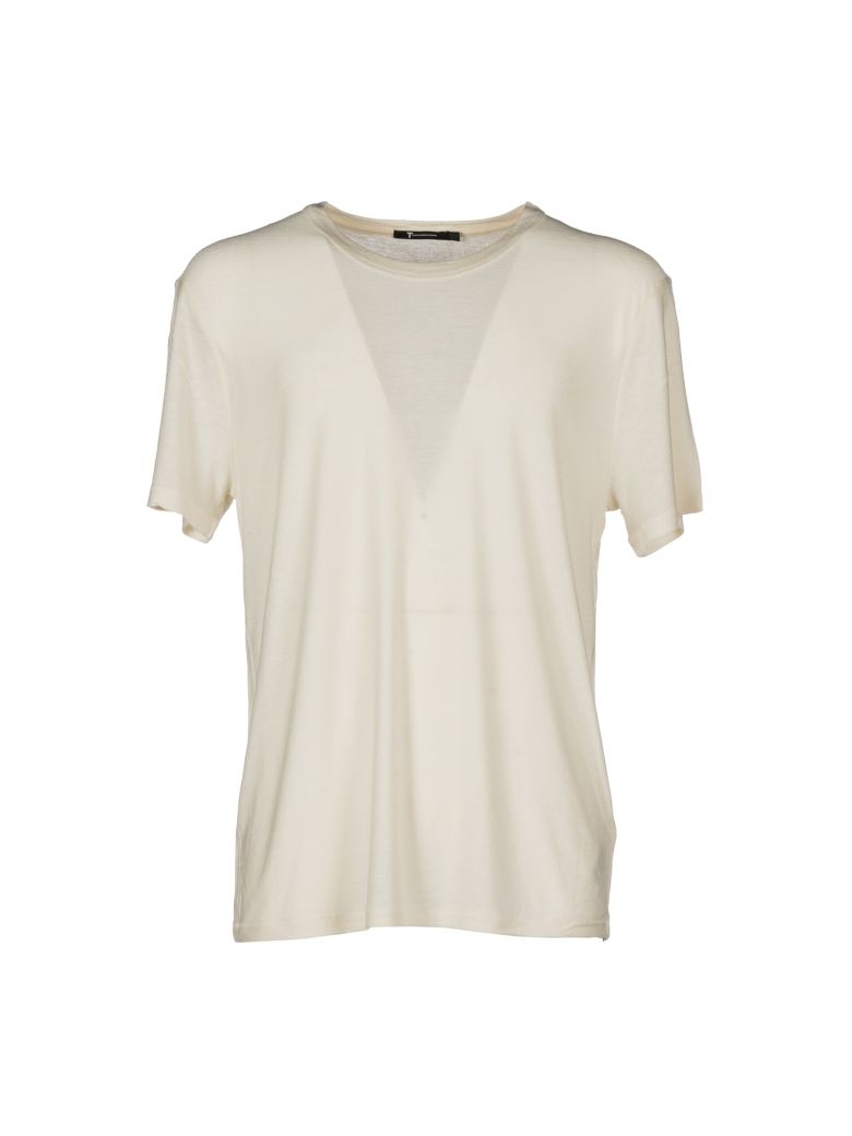 Alexander Wang T T By Alexander Wang Round Neck T-shirt In Ivory
