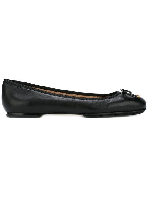 5317282e1 Tory Burch 'Laila Driver' Bow Leather Ballerina Flats In Black ...
