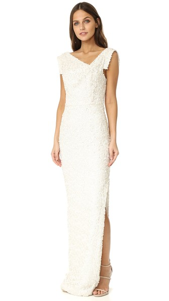 Black Halo Jackie O Anniversary Collection Slit Gown In Danish Girl