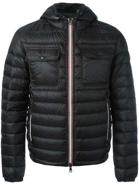 277243f27 Douret Hooded Puffer Jacket in Black