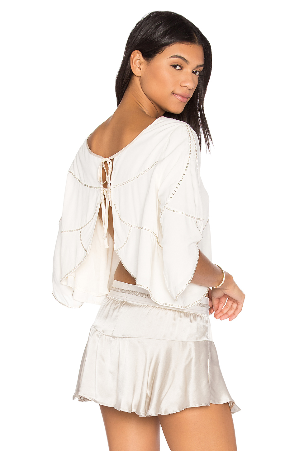 Flannel Australia Mirage Top In Ivory