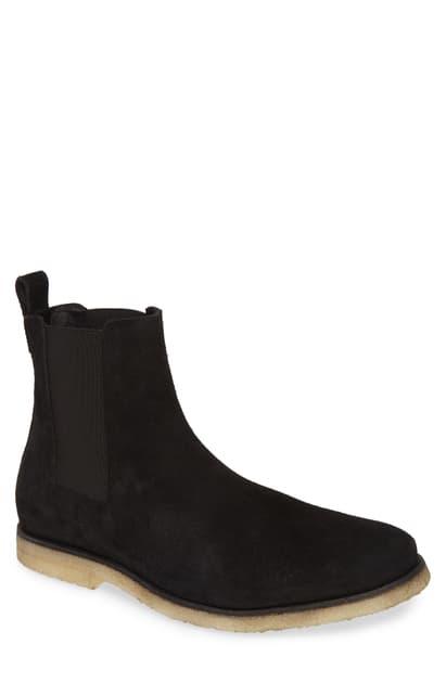 Allsaints Reiner Suede Chelsea Boots In Black