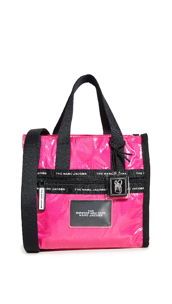 Marc Jacobs The Ripstop Mini Tote In Bright Pink
