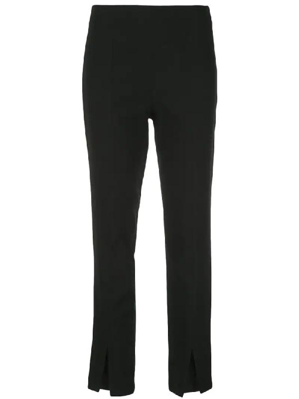 Tibi Anson Crepe Slim Fit Pants In Black