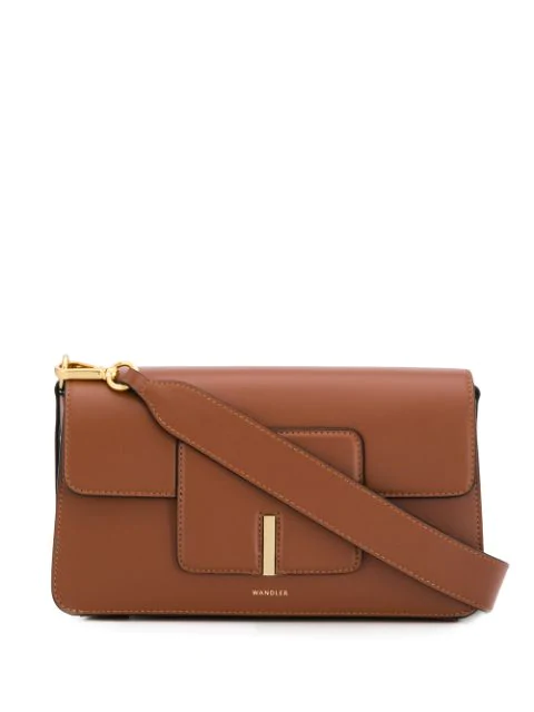 Wandler 'Georgia' Leather Shoulder Bag In Brown