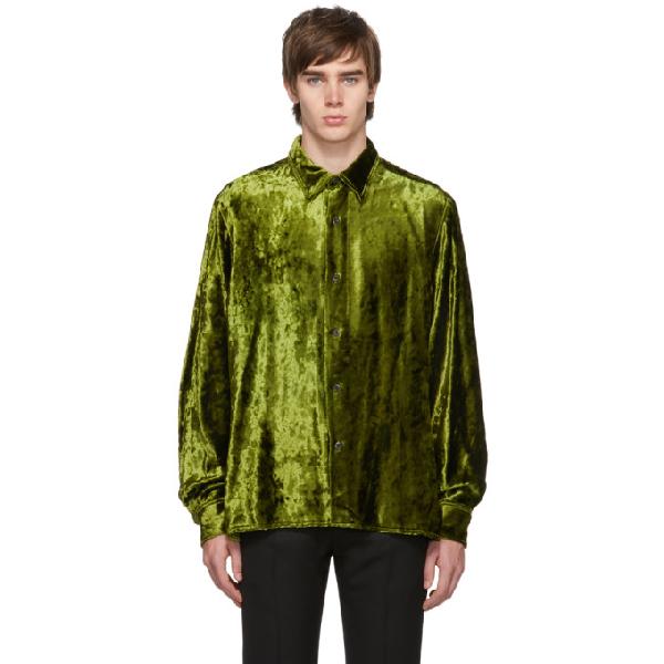 Ami Alexandre Mattiussi Classic-wide Fit Shirt In 351 Olive