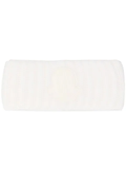 Moncler Rib-knit Head Band In White