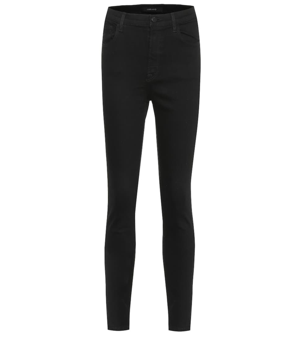 J Brand Women's Maria High-rise Skinny Jeans In Black
