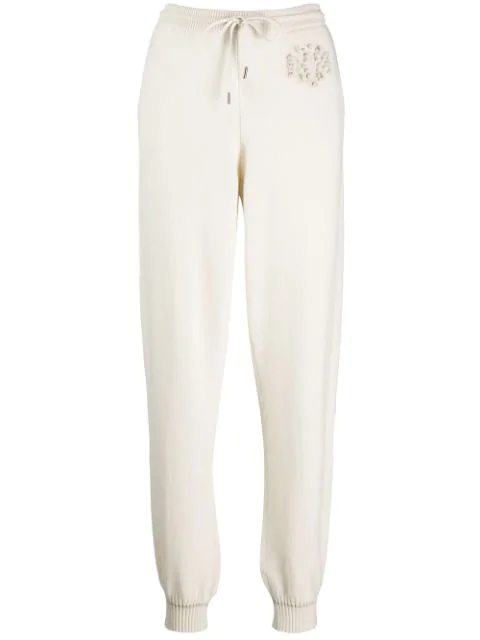 Barrie Cashmere Joggers In White