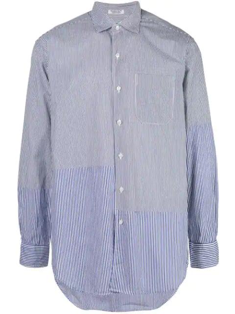 Engineered Garments Striped Print Shirt In Blue