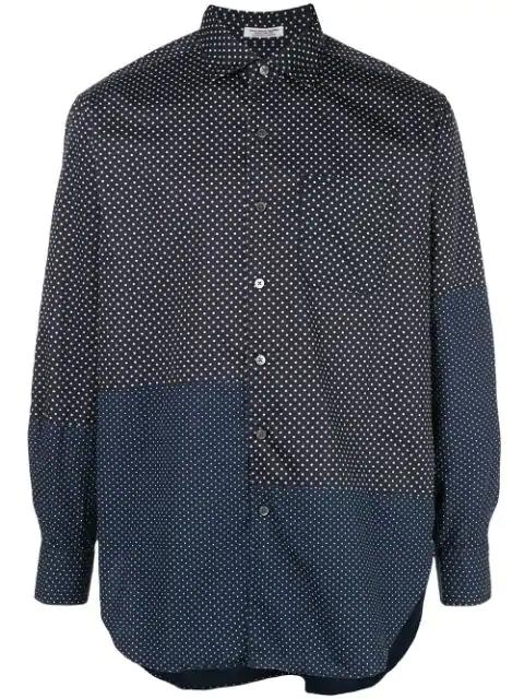 Engineered Garments Gepunktetes Hemd In Blue