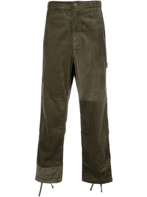 Engineered Garments Boxy Fit Textured Trousers In Brown