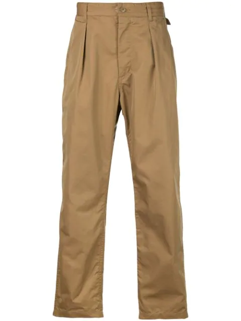 Engineered Garments Boxy Fit Cropped Trousers In Neutrals