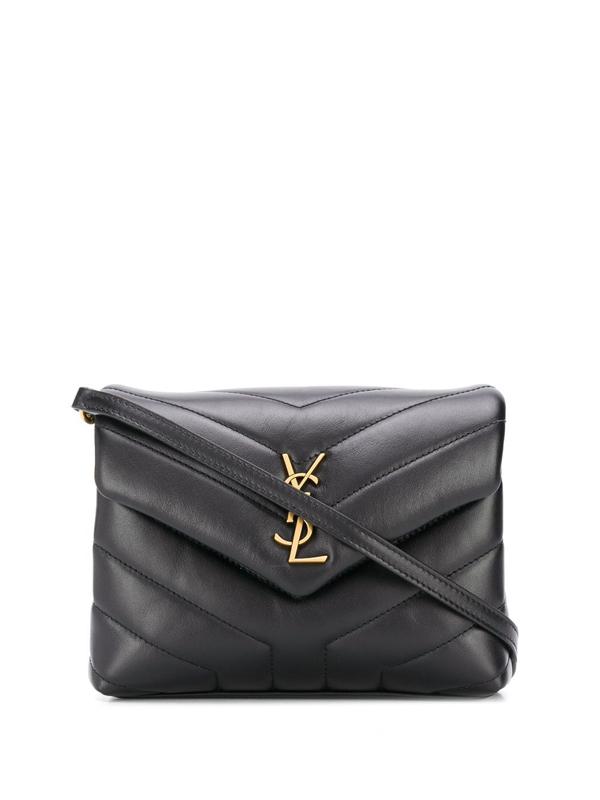Saint Laurent Loulou Toy Crossbody Bag In Black