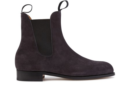 Jm Weston Le Cambre Chelsea Boot In Gris Anthracite
