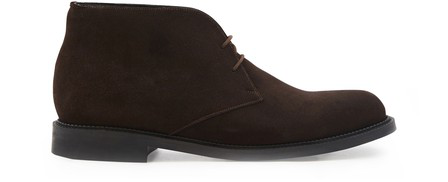Jm Weston Chukka Lace-up Ankle Boots In Marron Cafe