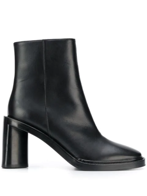 Acne Studios Booker Heeled Ankle Boots In 900-Black