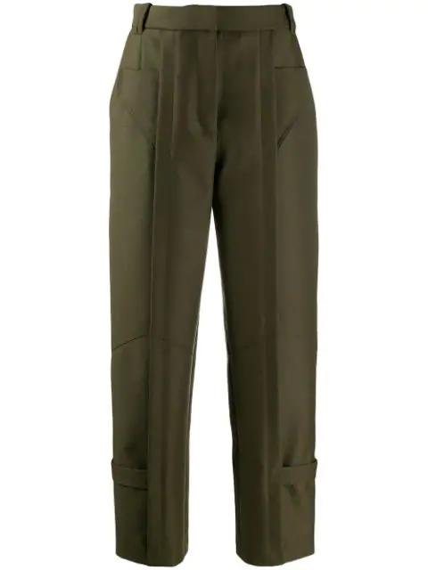 Barbara Bui High Waisted Trousers In Green