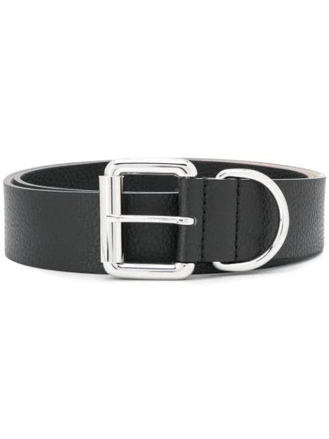 Barbara Bui Cracked Effect Belt In Black