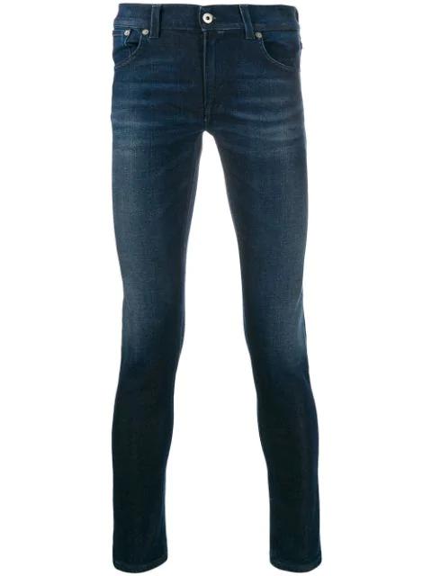 Dondup Skinny Denim Jeans In Blue