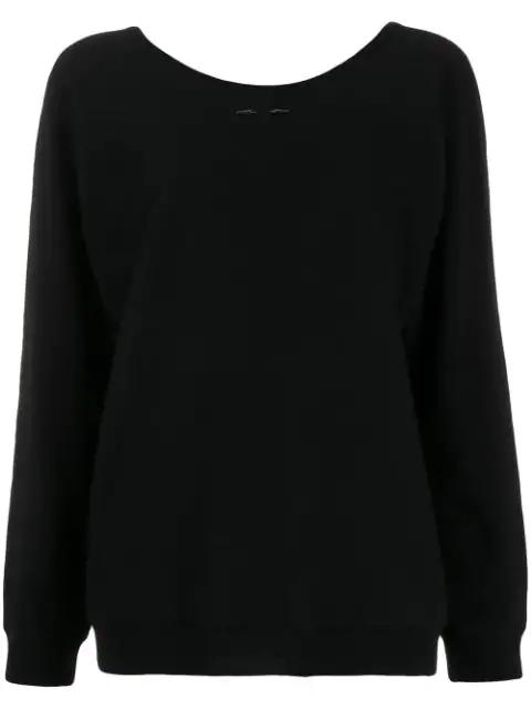 Barbara Bui Cashmere Round Neck Jumper In Black