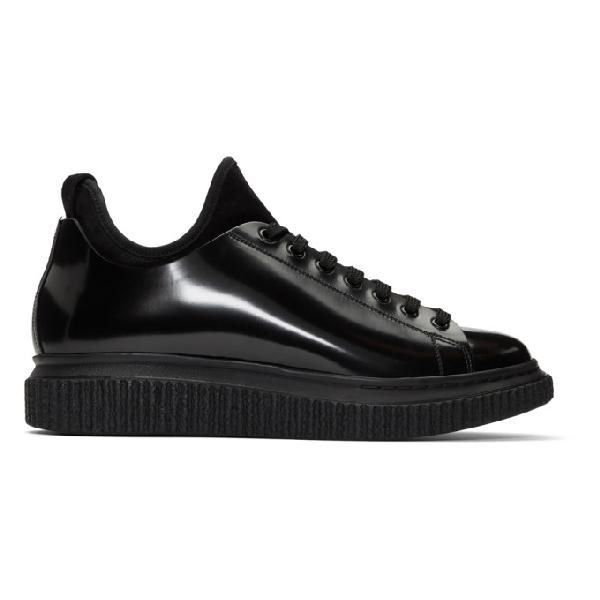 Officine Creative Black Krace 10 Sneakers In F.do Nero