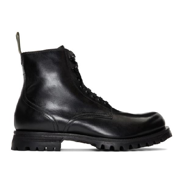 Officine Creative Black Rushden 4 Boots
