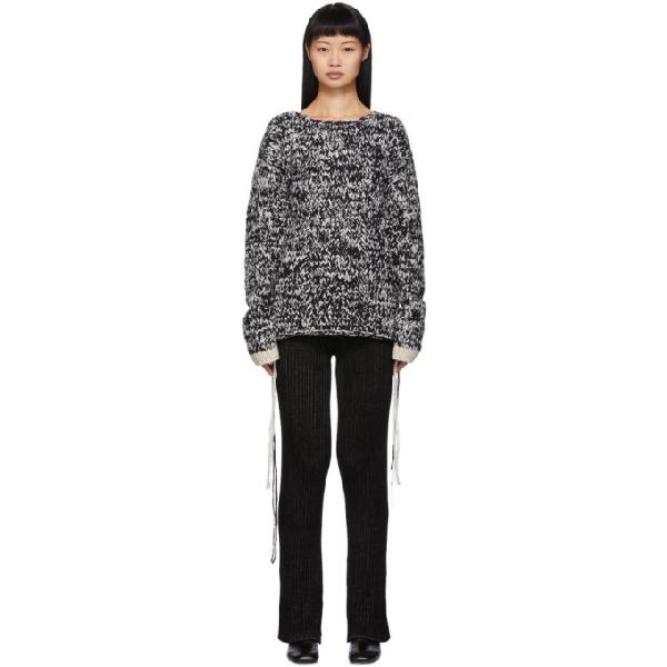 Joseph MoulinÉ-Knit Loose-Thread Wool Sweater In 0962 Blkecr