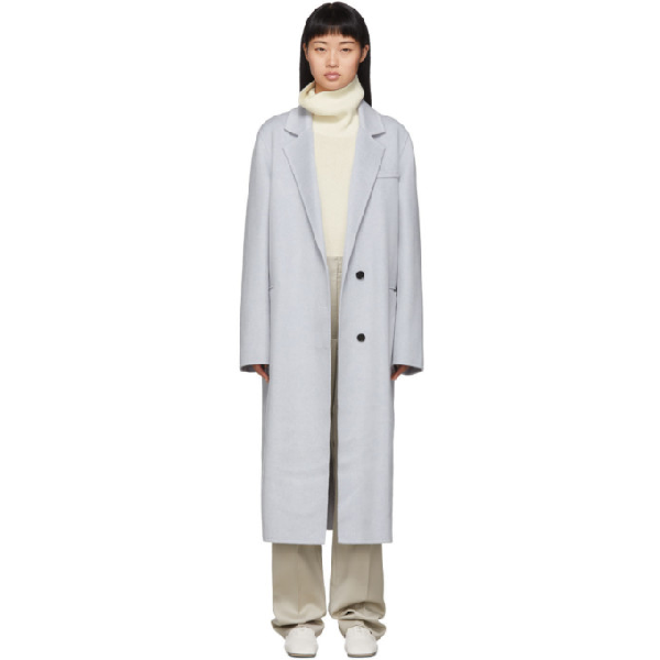 Joseph Signe Longline Cashmere Coat In 0200 Grey