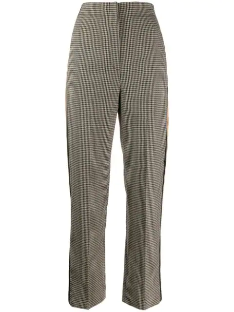 Sandro Checked Trousers In Marron