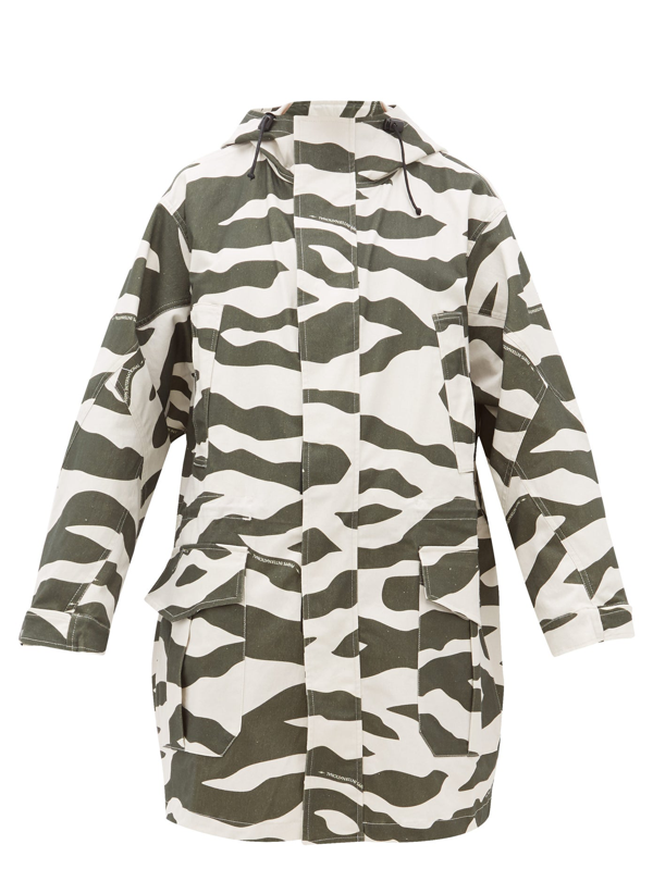 Phipps Camouflage-print Cotton-blend Coat In White Multi