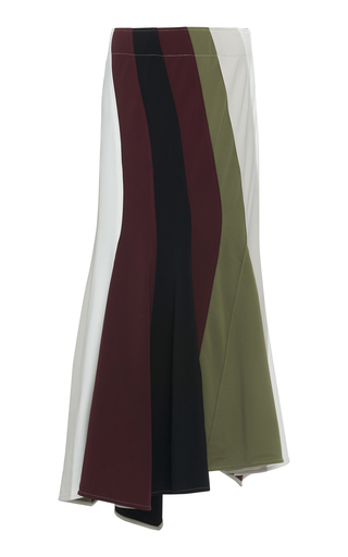 Jw Anderson Striped Crepe Maxi Skirt