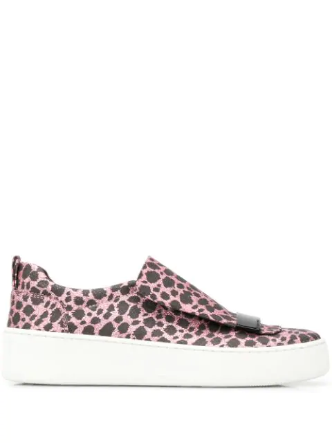 Sergio Rossi Addict Sneakers In Pink