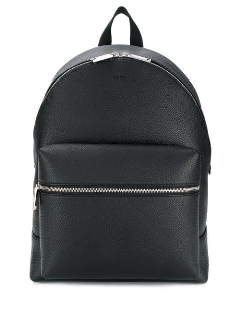 Hugo Boss Embossed Logo Backpack In Black