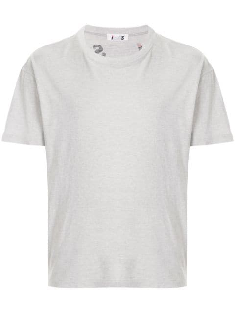 Pre-owned Issey Miyake 1980's Sports Line Small Logo T-shirt In Grey