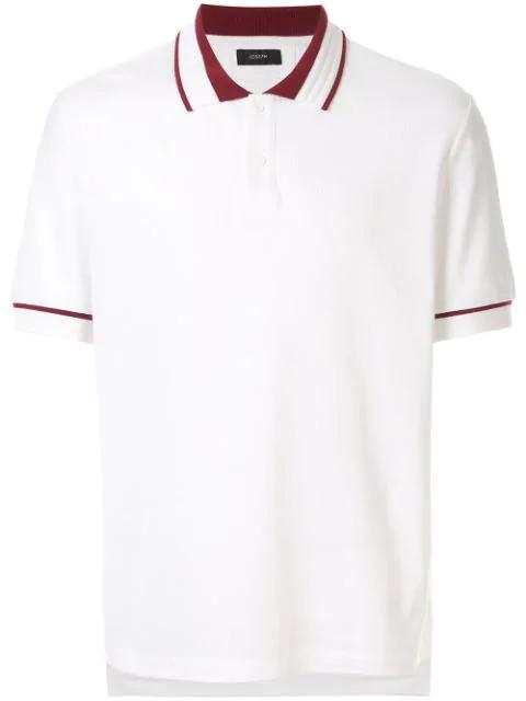 Joseph PiquÉ Polo Shirt In White