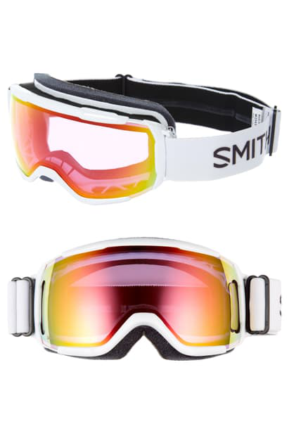 Smith Grom Snow Goggles In White/ Pink